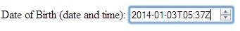 HTML5 Input Type DateTime