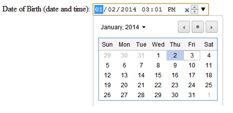 HTML5 Input Type DateTime-Local