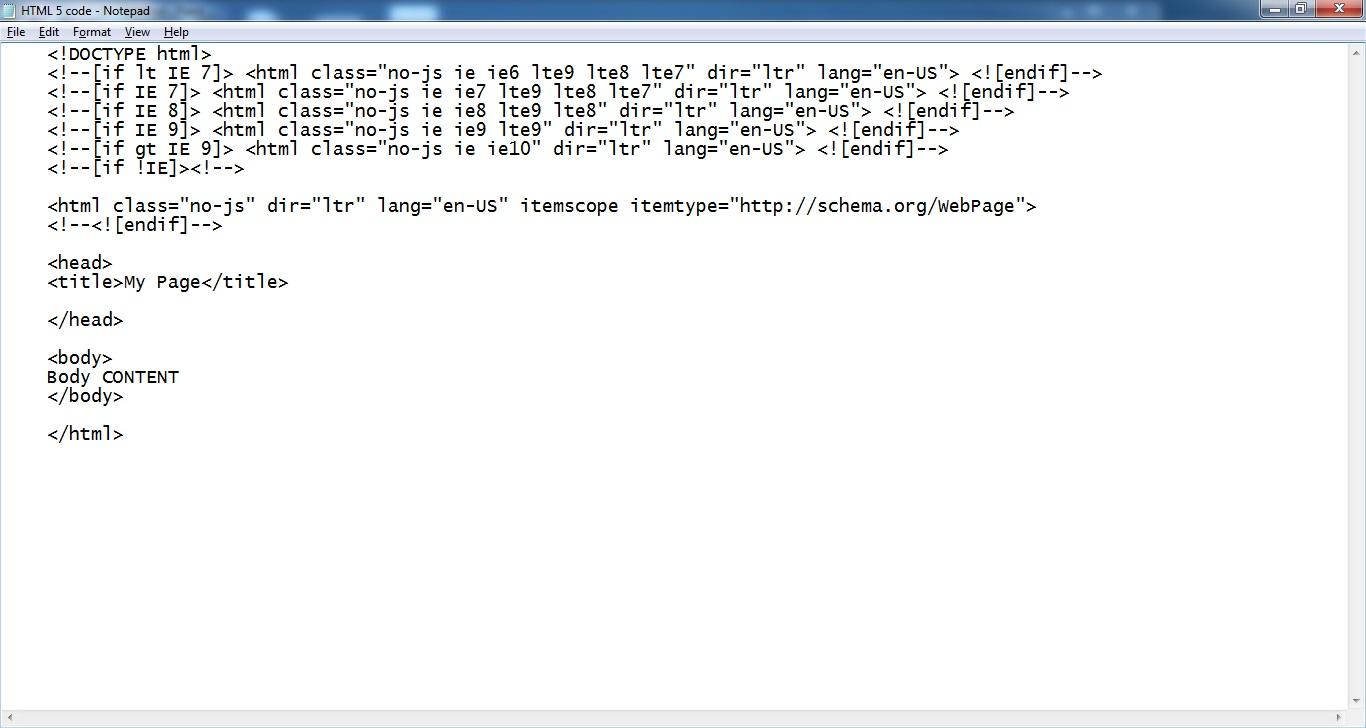HTML 5 Basics